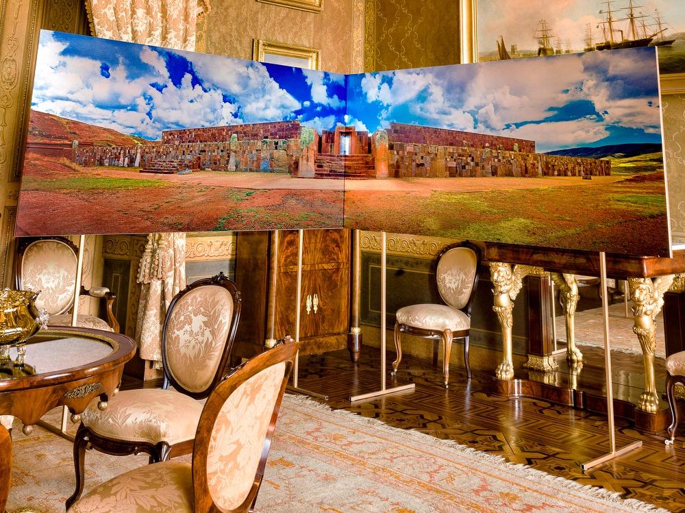 Tiawanacu entrance to Temple Kalasaya - Former Billiard Room